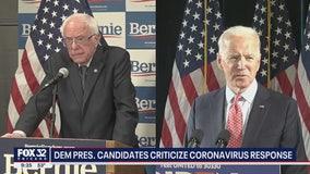 Joe Biden, Bernie Sanders blast Trump amid coronavirus concerns