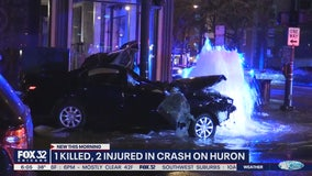 Man dead, Chicago cop among 2 hurt after River North police chase, crash