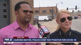Aurora mayor, police chief test positive for COVID-19