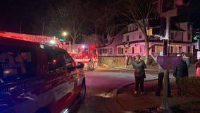 2 firefighters hurt after rescuing person, cat from Evanston house fire