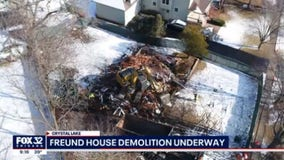 Demolition begins at Chicago-area house where AJ Freund was killed
