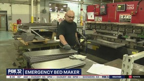 Local company transforms factory to make emergency beds
