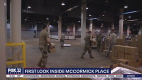 First Look: McCormick Place being transformed into makeshift hospital