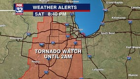 Tornado watch for areas west, south of Chicago canceled