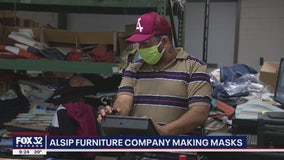 Suburban Chicago furniture company making facemasks amid COVID-19 outbreak
