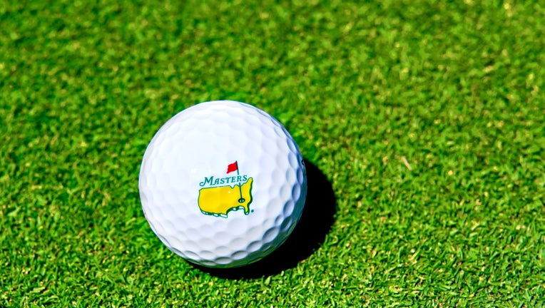 US Masters Golf Ball On Golf Green