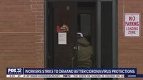 Workers strike to demand better coronavirus protections