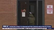 Workers strike to demand better coronavirus protections