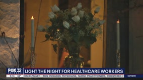 'Light the Night' for healthcare workers prevalent in Andersonville