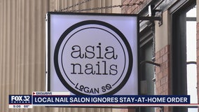 Chicago nail salon appears to ignore stay-at-home order