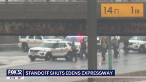 Charges filed in Edens Expy. standoff that tied up traffic for 3 hours