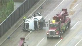 Driver ejected, killed in Dan Ryan rollover crash at 95th Street ramp