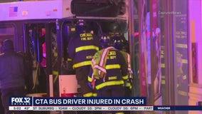 T-boned CTA bus crashes into Loop bank, sending 4 to hospitals