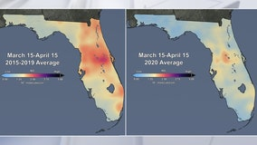 NASA images show Florida's pollution has decreased since coronavirus lockdowns began