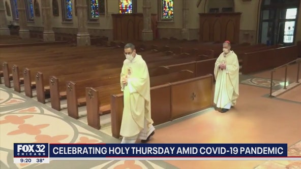 Churches empty on Holy Thursday as worshipers stay home due to COVID-19