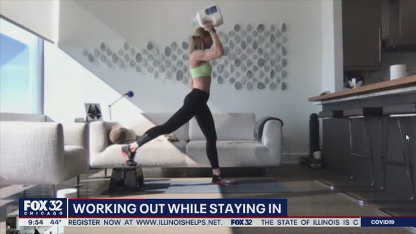 How to keep working out while staying in