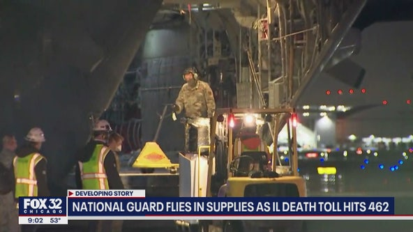 National Guard flies in supplies as Illinois death toll hits 462