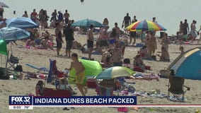Indiana beaches packed with Illinois residents on Memorial Day
