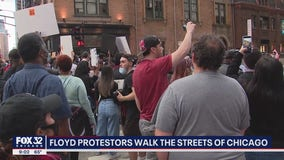 Protesters rally in downtown Chicago following death of George Floyd