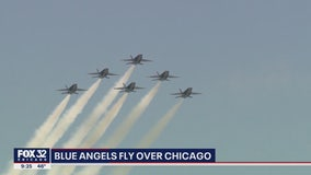 Blue Angels fly over Chicago to honor health care workers amid COVID-19 pandemic