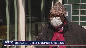 Upscale Chicago hotel housing homeless amid coronavirus outbreak