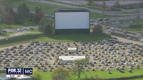 McHenry drive-in theater reopens to line of cars