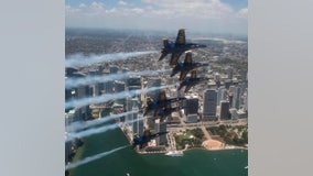 Blue Angels to fly over Chicago on Tuesday