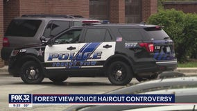 Haircuts at Forest View police station cause controversy: 'It's just not right'