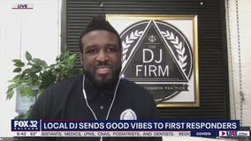 Chicago DJ spreading joy to first responders with mobile studio