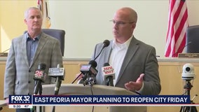 East Peoria mayor planning to reopen city on Friday