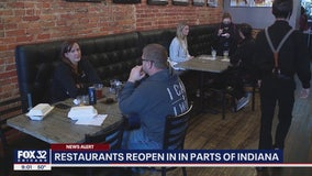 Restaurants, other businesses reopen in parts of Indiana