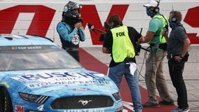 Harvick wins at Darlington in front of empty grandstands as NASCAR returns to racing
