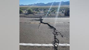 Vegas-Reno highway cracked, closed after 6.5 earthquake in Nevada