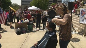Michigan State Police hand out $500 disorderly conduct citations at Operation Haircut in Lansing