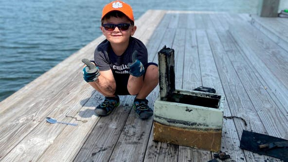 South Carolina boy, 6, reels in sunken safe, helps break robbery case open