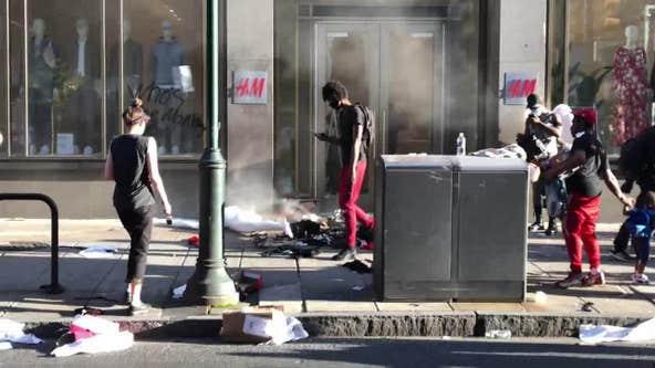 Protestors loot businesses, set fires in Philadelphia as mandatory curfew begins