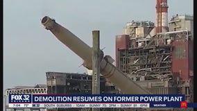 Demolition of former power plant resumes in Little Village