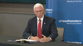Mike Pence visits Dallas to get update on COVID-19 response and speak at First Baptist Dallas