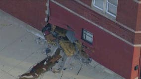 Vehicle crashes into building in South Deering