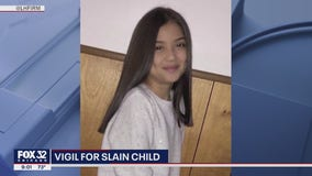 Vigil held for 10-year-old girl killed by stray bullet in Logan Square