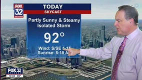 Afternoon forecast for Chicagoland on June 29th