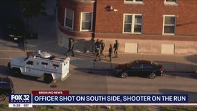 Chicago police officer shot in Bronzeville; 2 taken in for questioning