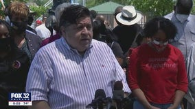 Pritzker attends Maywood Day of Action, calls for racial justice