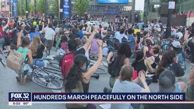 Chicagoans on North, South sides march for peace and justice to honor George Floyd