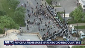 Peaceful George Floyd protesters march on South Side to CPD HQ