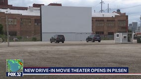New drive-in movie theater opens in Chicago