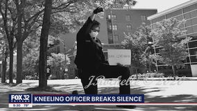 Chicago cop seen kneeling in viral photo says risk of going public worth it: 'black lives matter'