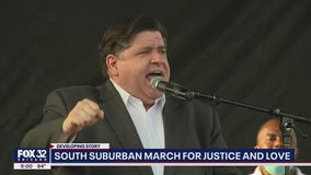 Pritzker joins protesters for peaceful march through south suburban Matteson