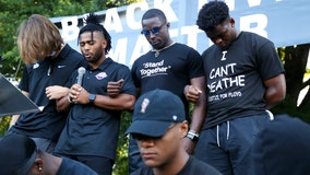 Clemson University football players lead 'March for Change'