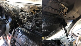 Illinois fire department warns against leaving hand sanitizer in cars after dashboard fire